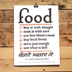 Food Rules Poster - HOLSTEE