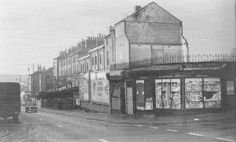 Sneinton Road, early The junction on the right is Upper Eldon Street. Piano Shop, Nottingham City, Industrial Architecture, Family History, Old Photos, Shops, Urban, Street, Shopping