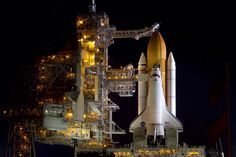 November 3, 2010. The space shuttle Discovery sits ready for launch on its final flight, STS-133, at Kennedy Space Center. LightSpeed Media Photo.