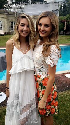 Zoe Sugg and Niomi Smart