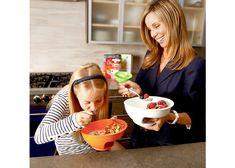Obol - The Original Crispy Never Soggy Cereal Bowl - Spiral Slide Design 'n Grip for sale online Cool Kitchen Gadgets, Kitchen Tools, Cool Kitchens, Kitchen Dining, Kitchen Ideas, Bag Clips, Slide Design, Cereal Bowls, Tasty Dishes