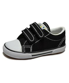 Another great find on #zulily! Black Skippy-V Canvas Sneaker by Peaks #zulilyfinds