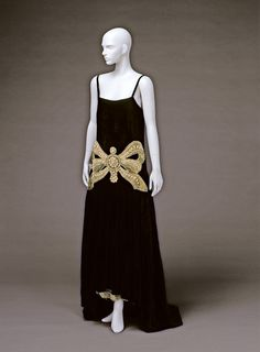1924 Jeanne Lanvin evening dress.