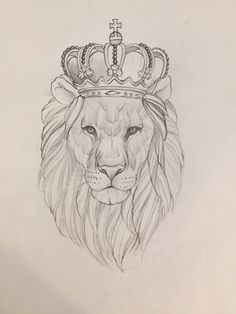 39 Best ideas for tattoo sketches lion pencil drawings Pencil Art Drawings, Art Drawings Sketches, Tattoo Sketches, Animal Sketches, Animal Drawings, Cute Drawings, Lion Tattoo With Crown, Lion Head Tattoos, Lion Sketch