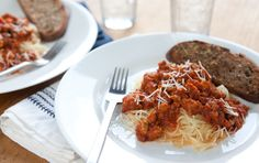Spaghetti Squash Marinara with italian sausage