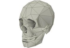 Vincent Ignacio, designer of this cool and very unusual paper model says that is a A low-poly human skull paper craft for Halloween.  To...