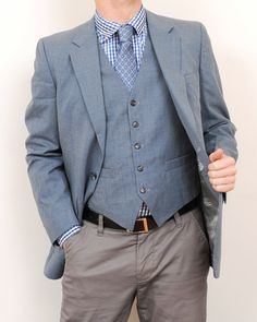 Vintage Mens Jacket & Vest Made in USA StyleEngineeringCo, $45.00