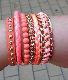 Super fashion esse mix de pulseiras pink!