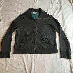 "Ann Taylor LOFT long sleeve zip up sweatshirt. Ann Taylor LOFT zip up grey sweatshirt, XL. Excellent condition.  22"" length. Ann Taylor Tops Sweatshirts & Hoodies"
