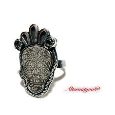 Un favorito personal de mi tienda Etsy https://www.etsy.com/es/listing/259172868/maria-antonia-the-catrina-ring