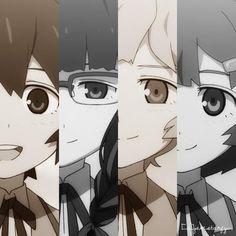 Black Rock Shooter - Mato, Yomi, Kagari y Yuu