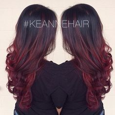 red ombre hair on asian women - Google Search