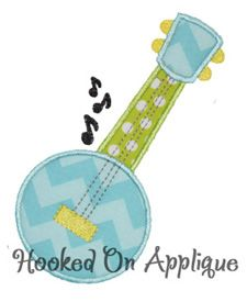 Banjo applique from Hooked On Applique!