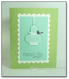 Happy Day Birdie kth by kthaman - Cards and Paper Crafts at Splitcoaststampers Using Stampin Up Aviary stamps