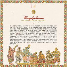 South Indian Kalamkari Inspired Wedding Program Detail Page-Appagintalu