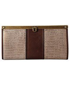 Fossil Handbag, Vintage Revival Embossed Frame Clutch - Handbags & Accessories - Macy's