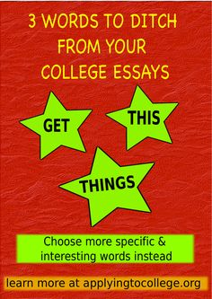 College Essay Writing: 3 weak words that don't belong College Application Essay, College Essay, College Hacks, Essay Writer, Essay Writing Tips, Essay Tips, Speech Topics For Kids, Yasmina Reza, College Counseling