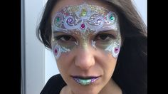 Blinged Out Mardi Gras Mask Face Painting Tutorial by Shelley Wapniak