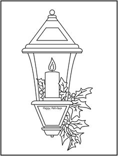 christmas lantern drawing – Wall Sticker Designs and Ideas Christmas Lanterns, Christmas Colors, Christmas Art, Christmas Pictures, Christmas Embroidery Patterns, Hand Embroidery Patterns, Colouring Pages, Coloring Books, Wall Sticker Design