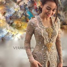 Instagram photo by verakebaya - @septriasaacha ...❤ ___ Kebaya by me  ___ #fitting #kebaya #pengantin #weddingdress #lace #beads #swarovski #handmade #detail