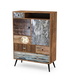 Latitude Vive This side cabinet will make a practical as well as a highly decorative addition to your hallway, living area or lounge room. Wood Drawers, Design Loft, Dcor Design, Wood And Metal, Solid Wood, Wood Colors, Colours, 21st Decorations, Scrappy Quilts
