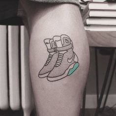 Small Tattoos sells temporary tattoos designed by professional artists and designers. Our temporary tattoos are safe and non-toxic. Bad Tattoos, Future Tattoos, Cool Tattoos, Back To The Future Tattoo, Calf Tattoos For Women, Nike Tattoo, Tattoo Nightmares, Spiderman Tattoo, Nike Mag