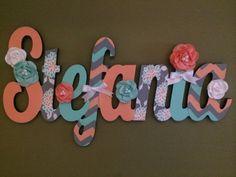 Personalizado niños nombre signo - vivero pared Letras nombre Sign - madera de…