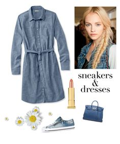 """""""Casual in Denim"""" by kotnourka ❤ liked on Polyvore featuring L.L.Bean, Diesel, Ultimate, Hermès and Kevyn Aucoin"""