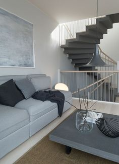 Villa style town homes in Stockholm's Husarviken Bay