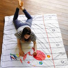 This Children's Blanket Lets You Doodle Yourself to Sleep #stockingstuffer #gifts trendhunter.com