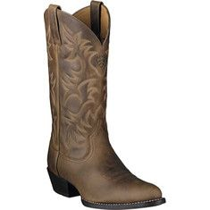 Men's Ariat Sport Round Toe - Brooklyn Brown Full Grain Leather with FREE Shipping & Exchanges. This boot features full grain leather foot and shaft, synthetic air mesh lining, traditional western