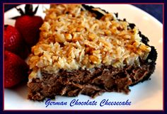 "If you love cheesecake and chocolate and especially anything German chocolate, you will love this ""German Chocolate Cheesecake!  ..."