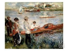 Oarsmen at Chatou Giclee Print by Pierre-Auguste Renoir at Art.com