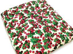 Holiday Fabric 100 Cotton Cranston Print Works Holly by StitchKnit, $8.00