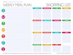 free printable grocery list printables pinterest