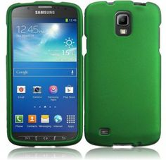 For Samsung Galaxy S 4 Active i537 Rubberized Cover - Dark Green