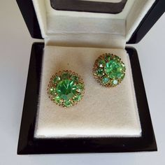 Excited to share the latest addition to my #etsy shop: Vintage 1960's Austrian Green Rhinestones Clip On Earrings Clips Rockabilly http://etsy.me/2CWkFBi #jewellery #earrings #green #gold #austria #1950searrings #rockabilly #cliponearrings #clips