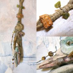 Reserved for susan Artisan Necklace hemp ceramic by greybirdstudio, £80.00