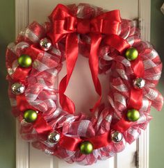 Deco mess Christmas wreath.