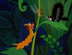 Alice In Wonderland - Dog & Cat-erpillar & Rocking Horse Fly