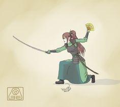 Erza Scarlet the Kyoshi warrior by xiomz.deviantart.com on @deviantART