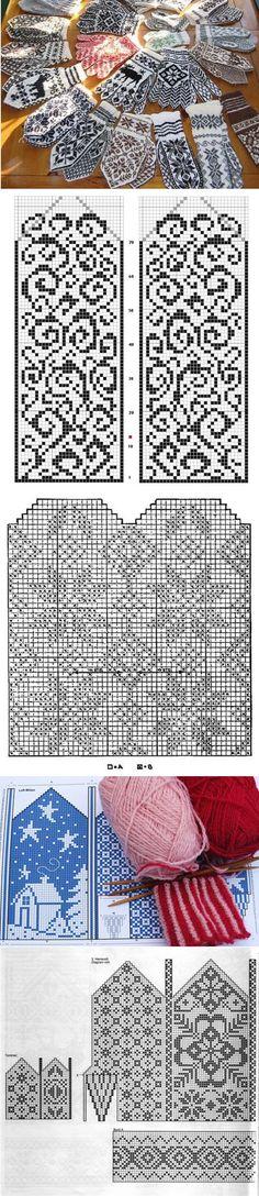 Схема варежек | Дамская копилка
