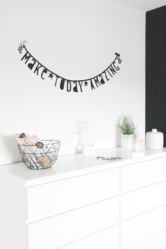 Letter banners interieur | Interieur inspiratie | Pinterest