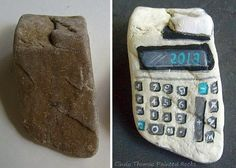 Painting Rock & Stone Animals, Nativity Sets & More: Before & After Painted Rocks and Stones: Machines