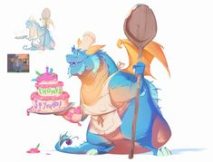 High time for another Dragon, don't you think? One of my all time favorites from the bunch of concepts I got to do for the Spyro Reignited Trilogy was Devlin! Game Character Design, Character Design References, Character Concept, Spyro Characters, Art Puns, Spyro The Dragon, Dragon Artwork, Game Concept Art, Dragon Design