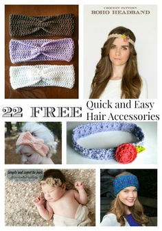 Last week I brought you part 2, quick and easy crochet accessories for your arms and hands.  The week before was part 1, boot cuffs and leg warmers. This week I am bringing you quick and easy crochet accessories patterns for your head and hair.   These items work up fast and are great for [...]
