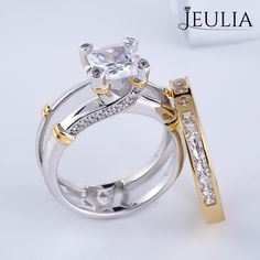 Spiral motifs on bands and settings are putting a new spin on the classic engagement ring. The spiral-shaped infinity symbol stands for everlasting love, making this motif a popular choice for engagement rings| How Do It #JeuliaJewelry