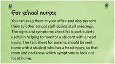 Concussion ABCs - Download or order Free materials & information for School Nurses