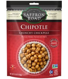 Saffron Road Roasted Chickpeas - Chipotle