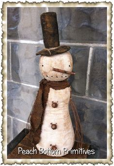 ePatternPrimitive Olde Winter Snowman Doll Sewing by PrimsbyDenise